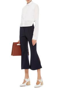 Ellery Frederico Cropped Flare Trousers