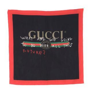 Gucci Coco Capitan Silk Scarf