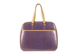 Louis Vuitton Amethyst Vernis Sutton Bag