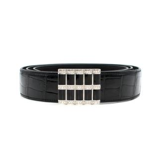 Stefano Ricci Black Crocodile & Diamond Belt