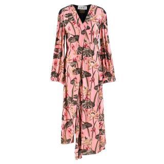 Loewe X Paula's Ibiza Floral-print Midi Dress
