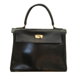 Herm�s Black Vintage Kelly 28 cm