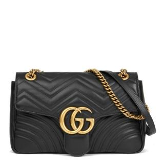 Gucci Black Medium Marmont Bag