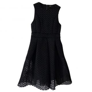 Maje Black Lace Mini Dress