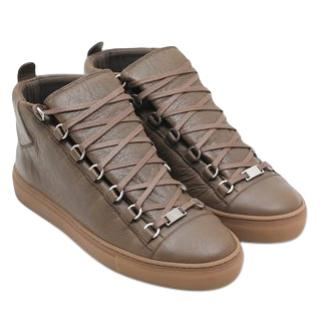 Balenciaga Brown Arena Sneakers