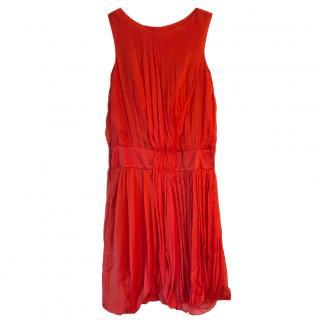 Alberta Ferretti Silk-Chiffon Sleeveless Dress