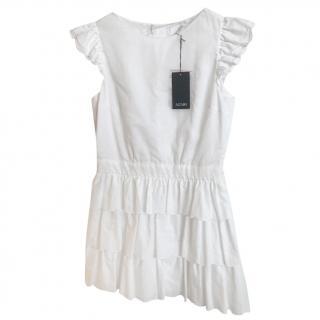 Azzaro Ruffle-Skirt Dress