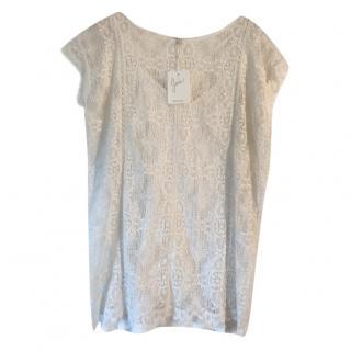 Joie Cream Crochet Top
