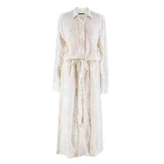 A.O.T.C. White Fil Coupe Maxi Dress