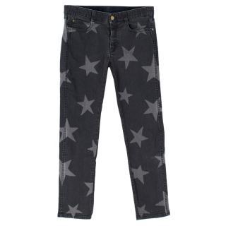 Stella McCartney Grey Star-print Skinny Jeans