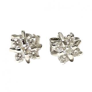Bespoke 0.20ct Diamond Star Cluster Earrings