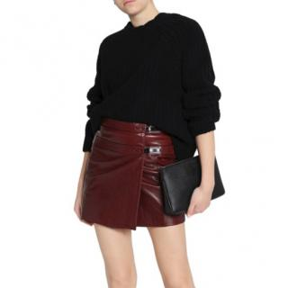 Belstaff Leather Hampstead Kilt in Burnished Red