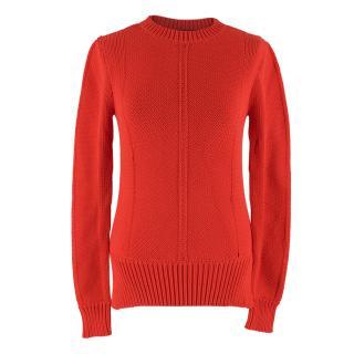Derek Lam Red Knit Jumper