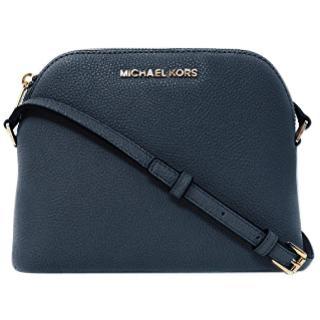 Michael Kors navy leather cross-body bag