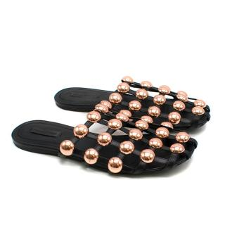 Alexander Wang Amelia Studded Leather Slides