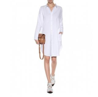 Acne Studios Lash Tech Pop White Shirt Dress