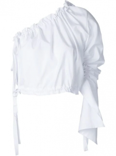 Georgia Alice White Crescent One-Shoulder Blouse