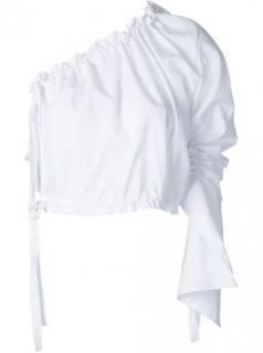 Georgia Alice White Crescent One-Shoulder Blouse