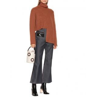 Ellery Vallauris asymmetric-hem terracotta sweater