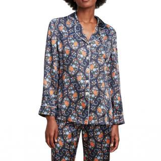 Liberty London Florence Evelyn Silk Satin Shirt