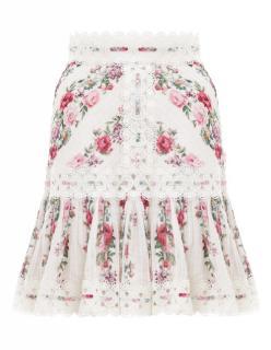 Zimmermann Honour Pintuck Panelled Skirt - New Season