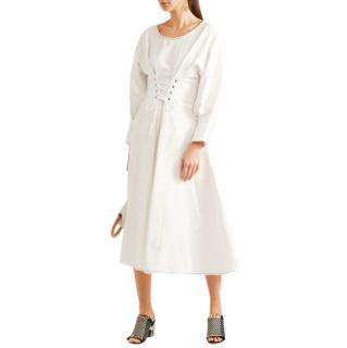 Rejina Pyo Irene White Linen & Cotton-Blend Dress