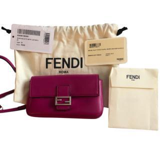 Fendi Magenta Micro Baguette Bag