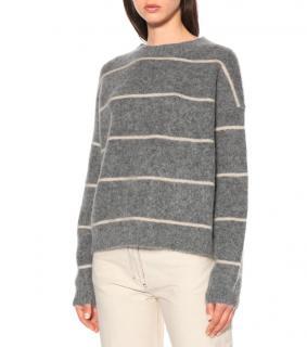Acne Studios Grey Rhira Mohair-Blend Sweater