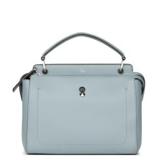 Fendi Sky Blue Dot Com Leather Bag