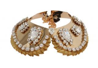 Dolce & Gabbana Gold Tone Embellished Collar Necklace