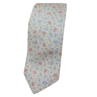 Ermenegildo Zegna Floral Print Silk Tie