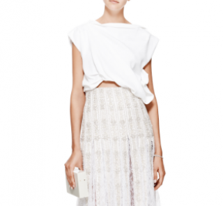 Ellery Buttercup white draped double-crepe top