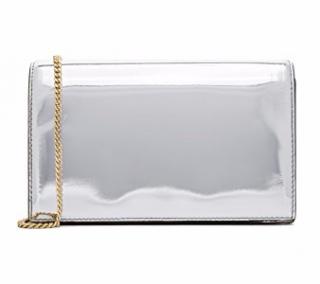 Diane Von Furstenberg Silver Shoulder Bag & Card Holder