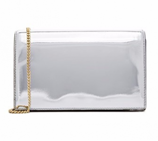 Diane Von Furstenberg Silver Shoulder Bag & Card Holder
