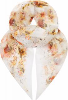 Erdem Butterfly Print Large Silk Scarf