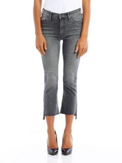 Mother Grey Insider Crop Step Fray Jeans