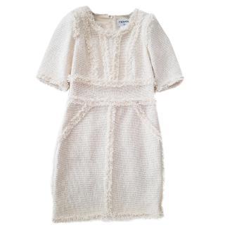 Chanel Pale Blush Tweed Dress