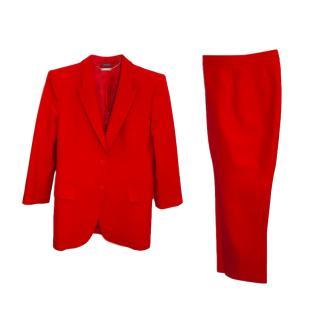 Alexander McQueen Red Classic Trouser Suit