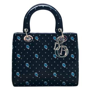 Dior Floral Embroidered Medium Lady Dior Bag
