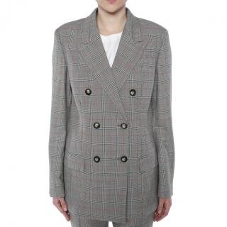 Stella McCartney Double Breasted Check Blazer