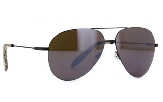 Victoria Beckham Feather Black Caviar Mirror Sunglasses