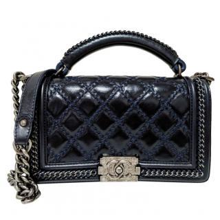 Chanel Paris-Salzburg Chain Handle Boy Flap Bag