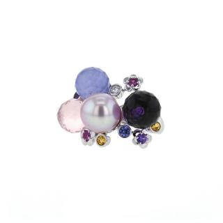 Chanel Mademoiselle White Gold, Diamond & Precious Stones Ring