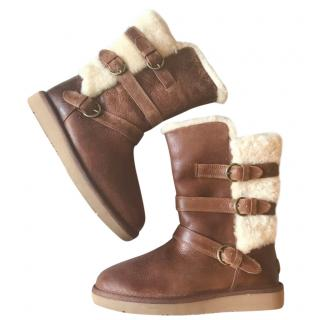 Ugg Leather & Sheepskin Boots