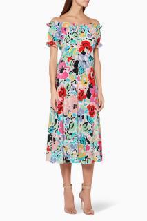 Rico floral silk Bella Dress