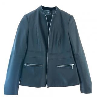 Elida Tahari Black Soft leather tailored jacket