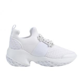 Roger Vivier Viv� Run Strass Buckle Sneakers - New Season