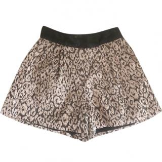 Maje Metallic Shorts