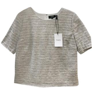 Theory Thaymes Tweed Zip Shell Top
