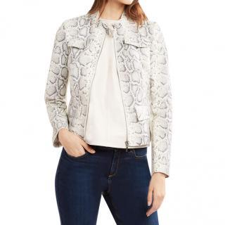 Elie Tahari Gwen Python Print Jacket - New Season